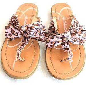 Jessica Simpson Pink Leopard Sandals Girls Sz 4